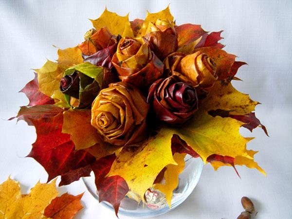 Открытки из листьев фото, открытка дню