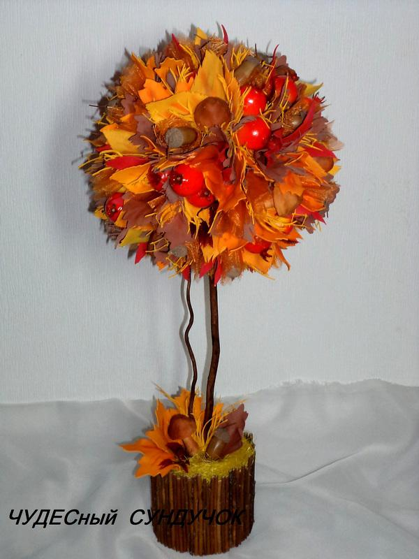 Поделка дерево осень руками пошагово 81