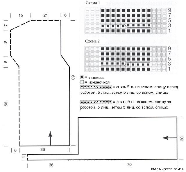 Вязание капора схемы