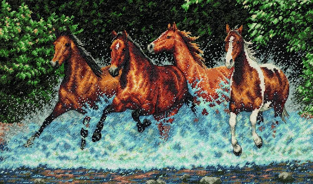 Вышивки лошадей скачать бесплатно