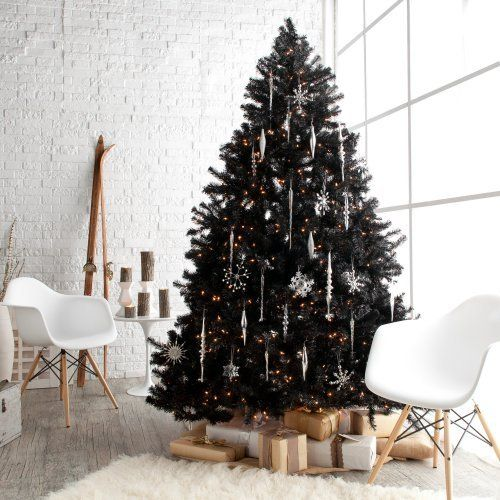 17-a-lush-black-tree-wwith-white-and-silver-snowflake-ornaments-and-lights