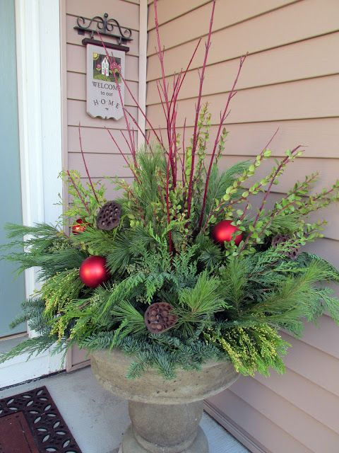 07-winter-container-with-fresh-evergreens-red-branches-and-ornaments