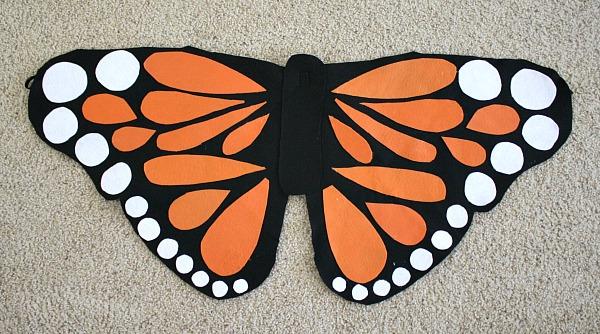 Бабочки на костюм своими руками