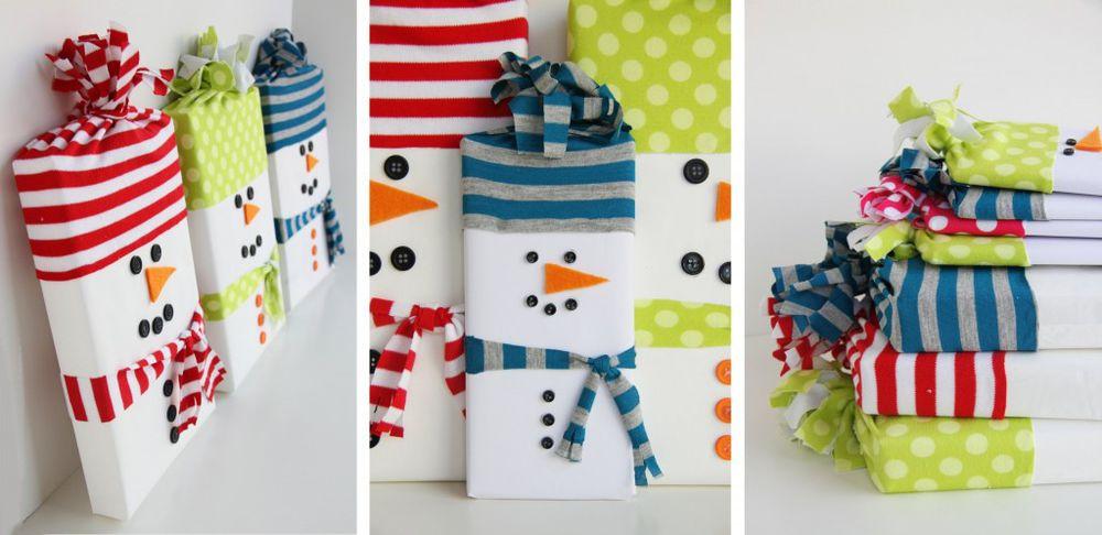 Упаковка новогодних подарков 4
