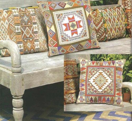 Вышивка на подушку восточные
