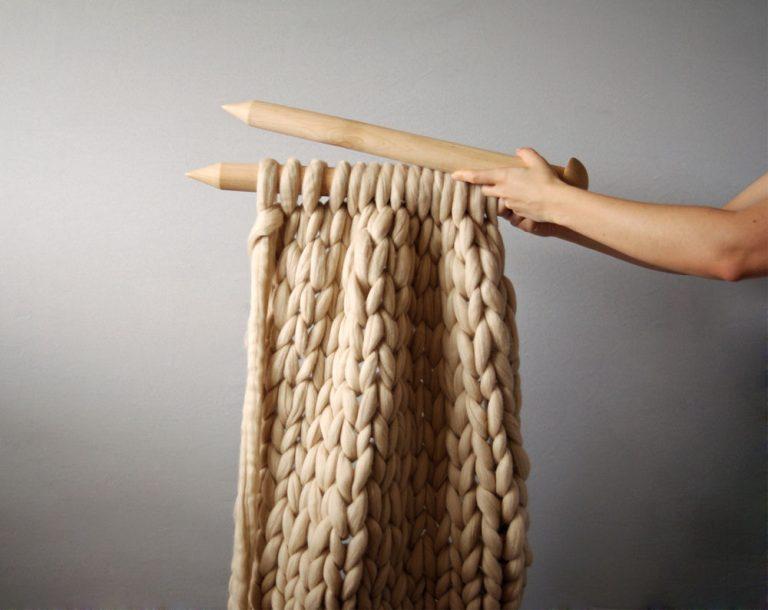 Очень толстая нитка для вязания 975