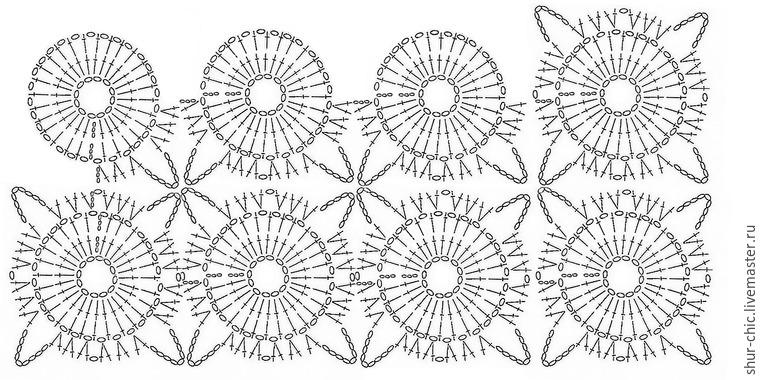 Непрерывное вязание схемы крючок 314