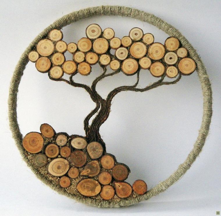 Поделки на спилах дерева