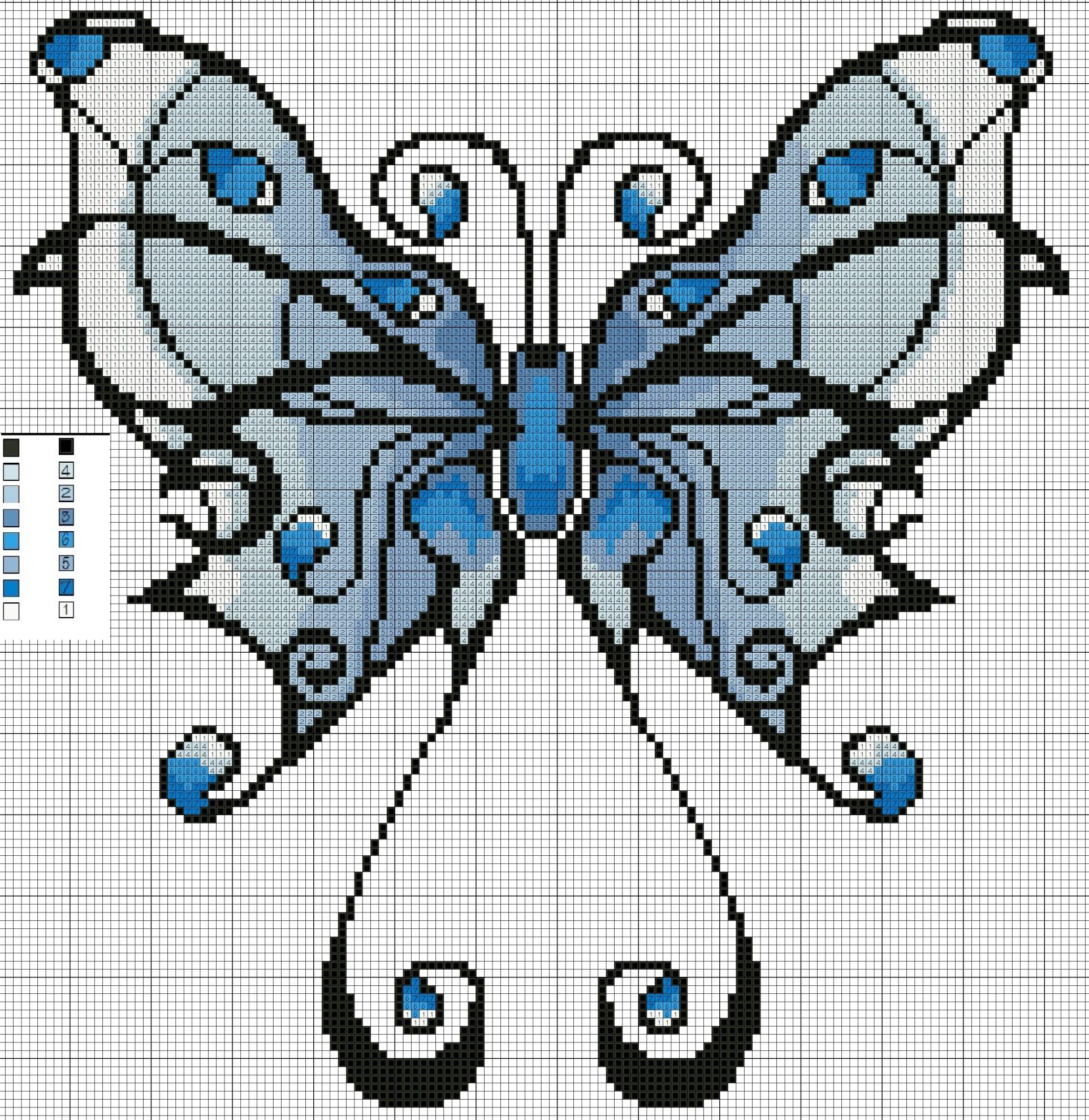 Купить раскраски по номерам по сюжету бабочки в Москве 58