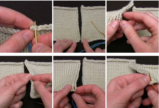 как сшить вязаные детали иглой или крючком 2 классных способа