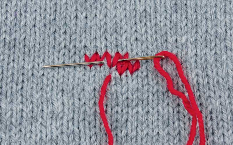 Вышивка по вязаному полотну 93