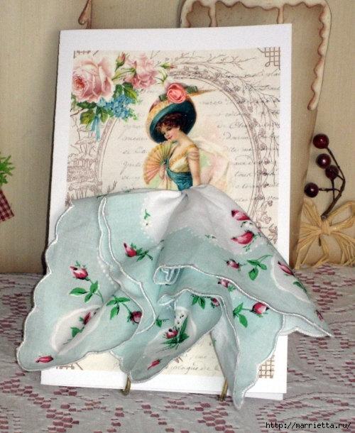 Фантазийные открытки с использованием платочков, картинки