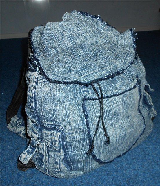 b7aebc2cf27a Простые и практичные рюкзаки из старых джинсов