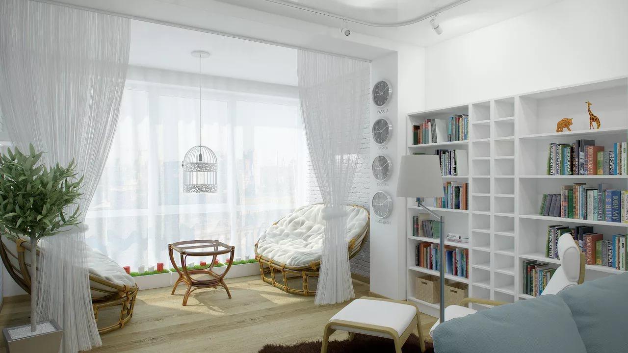 Присоединение балкона к комнате: 22 идеи использования допол.