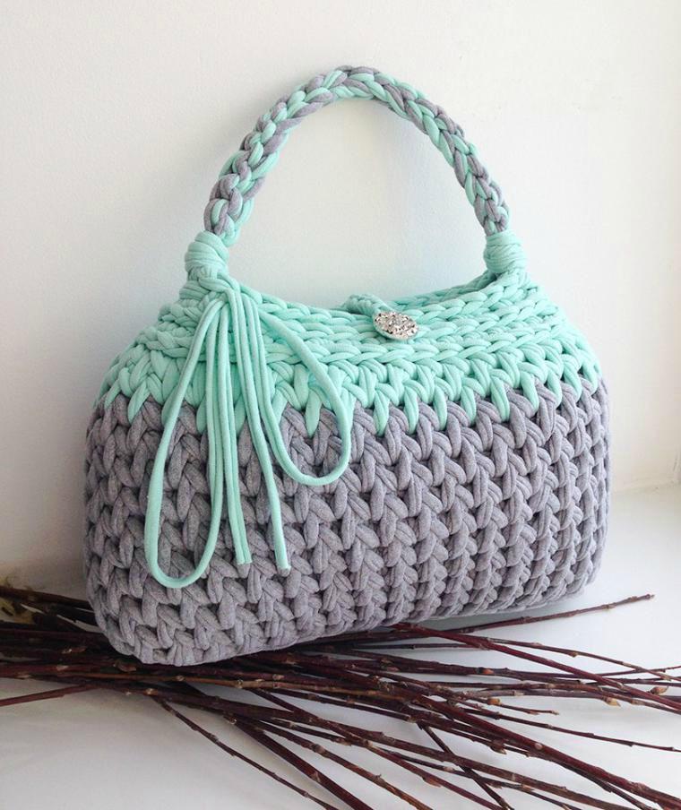 вязаные сумки из трикотажной пряжи новый тренд 2017 года