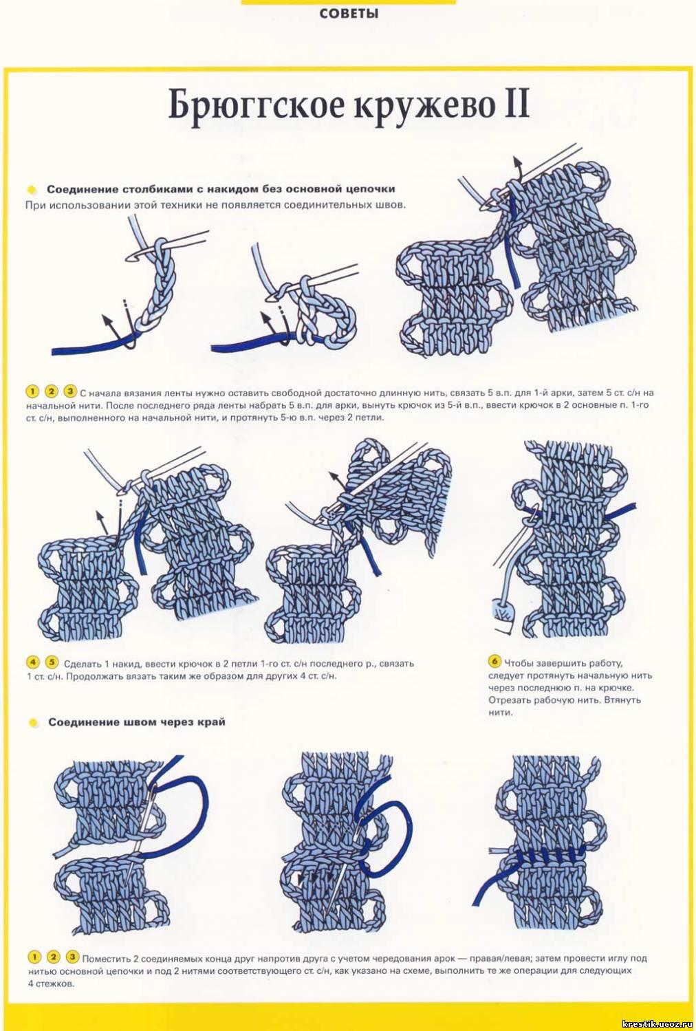 Вязание крючком. Схемы вязания 99