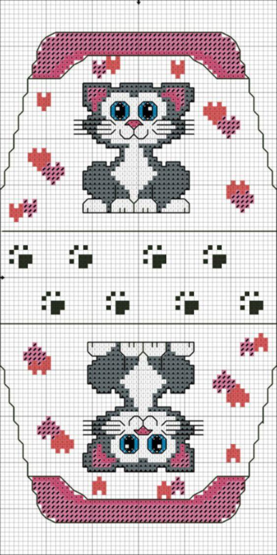 Схема вышивки крестом следы 95