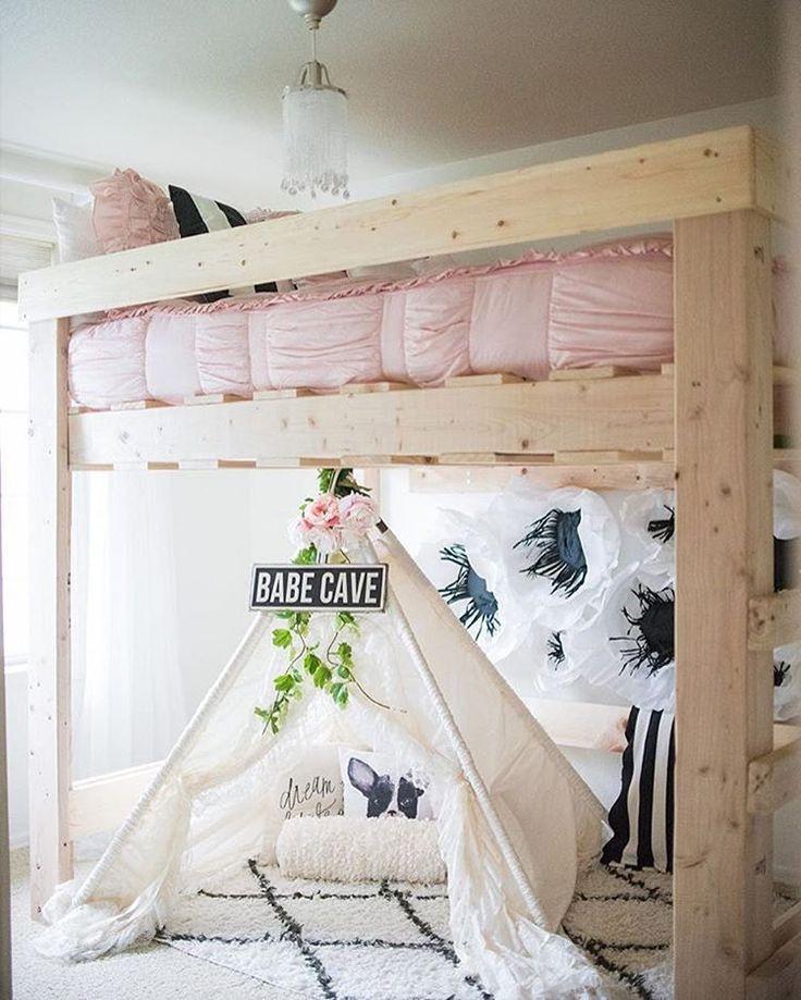 идеи кровати чердака для детской комнаты