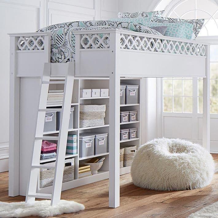 как организовать пространство под кроватью чердаком
