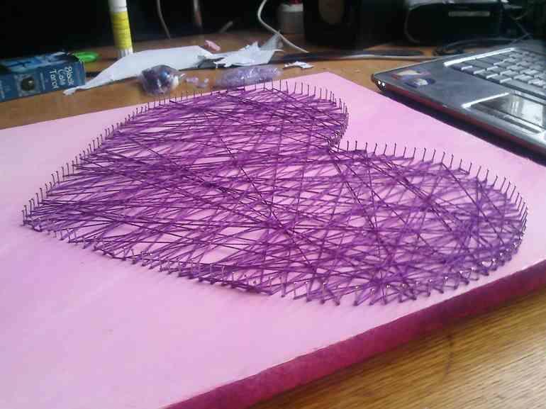 Стринг арт - картины из гвоздей и ниток » Сделай сам