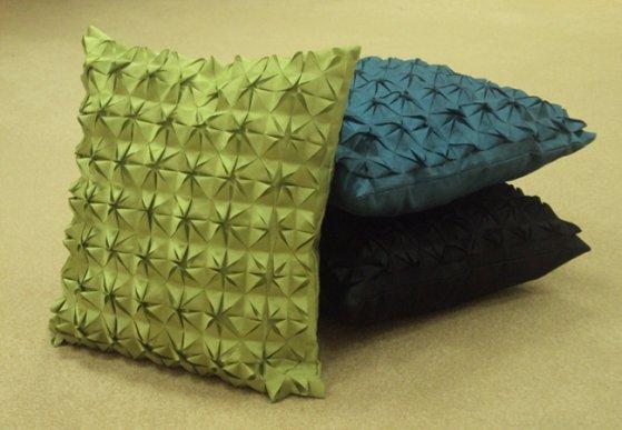 подушка в технике оригами