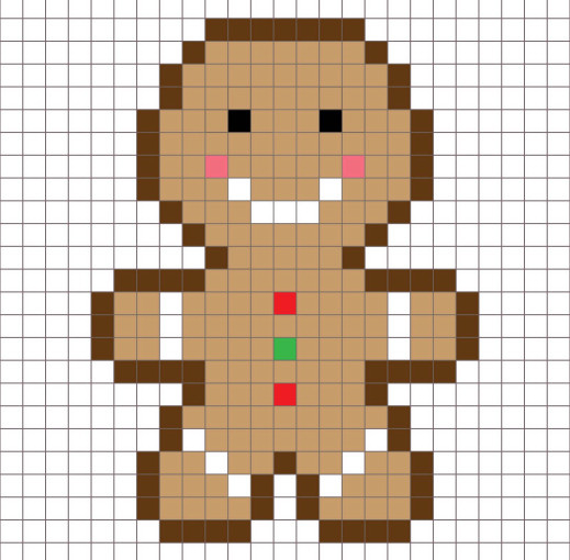 GingerbreadManPixel (519x510, 198Kb)