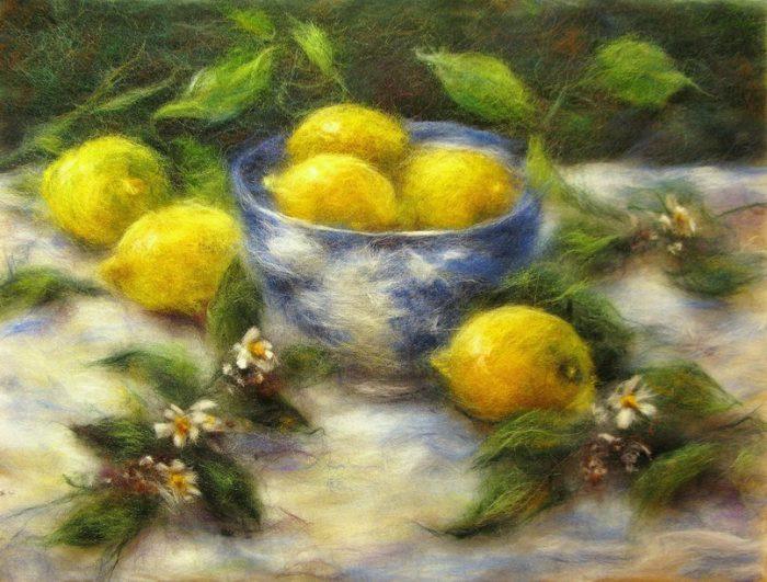 Марина Аскерова картины шерстью - 03