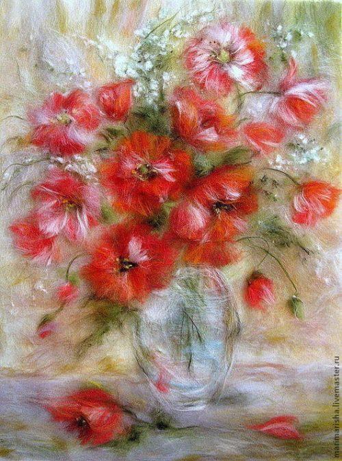 Марина Аскерова картины шерстью - 11
