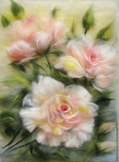 Марина Аскерова картины шерстью - 12
