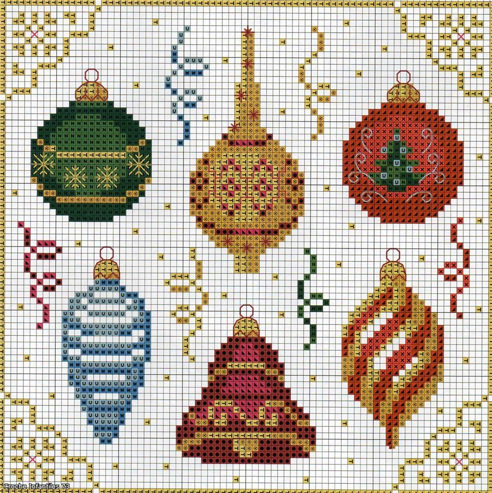 Новогодние схемы для вышивки крестиком 1
