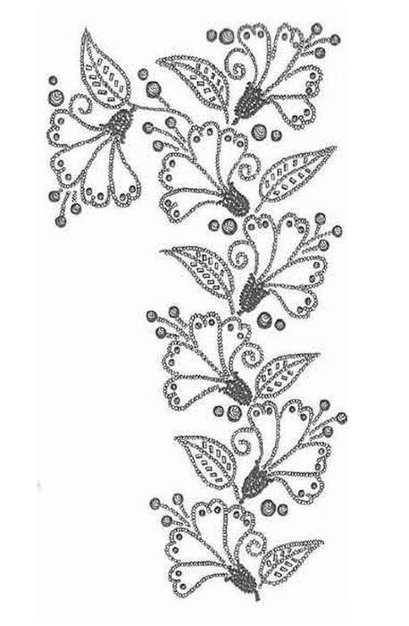 Узоры для вышивки жемчугом и бисером схемы 47