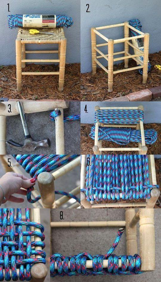 Плетеная мебель своими руками из каната 56