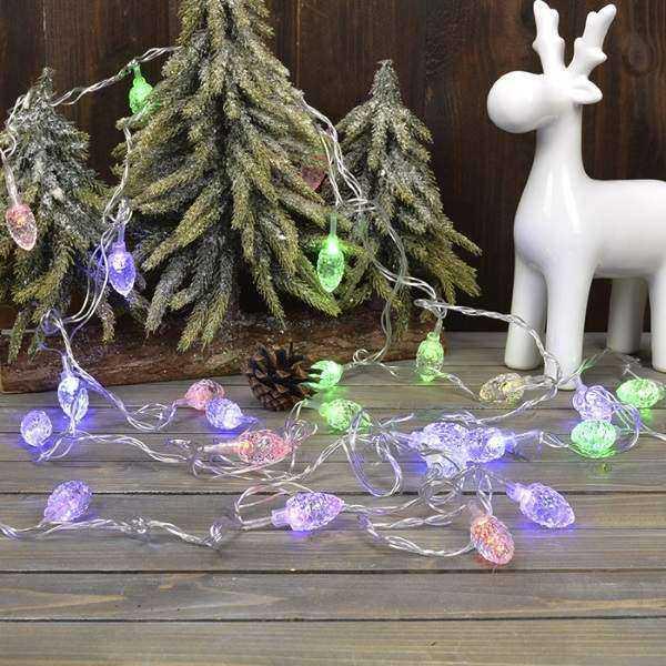 как сделать новогоднюю гирлянду на дверь, фото 8