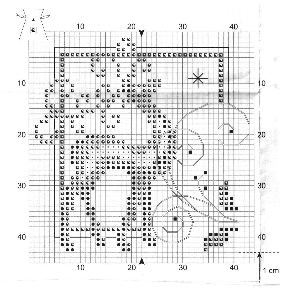 Вышивка схемы для новогодних мешочков 1