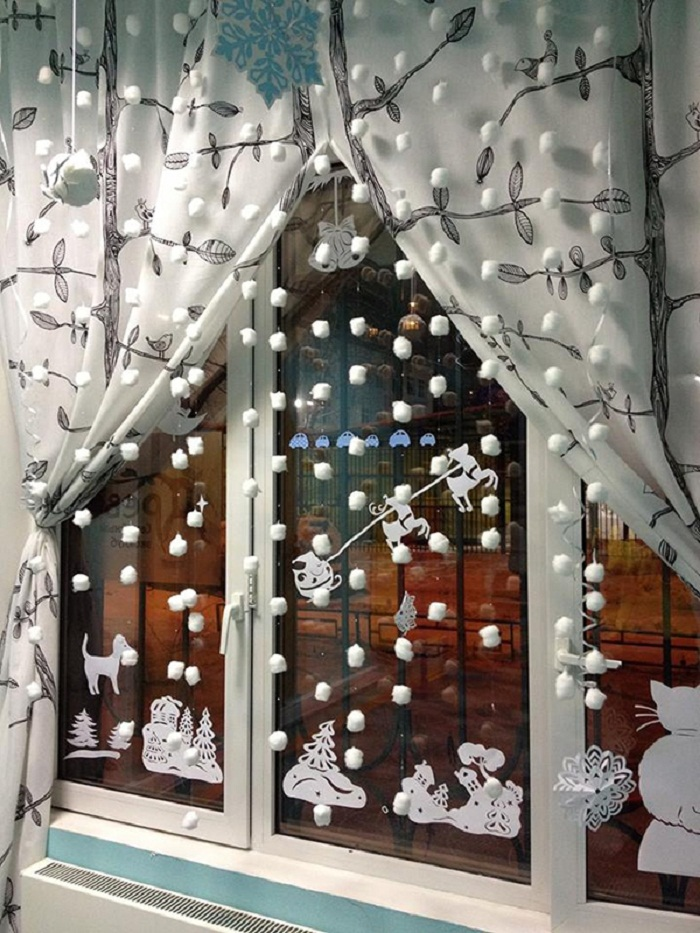Новогодние украшения гирлянды своими руками из ваты