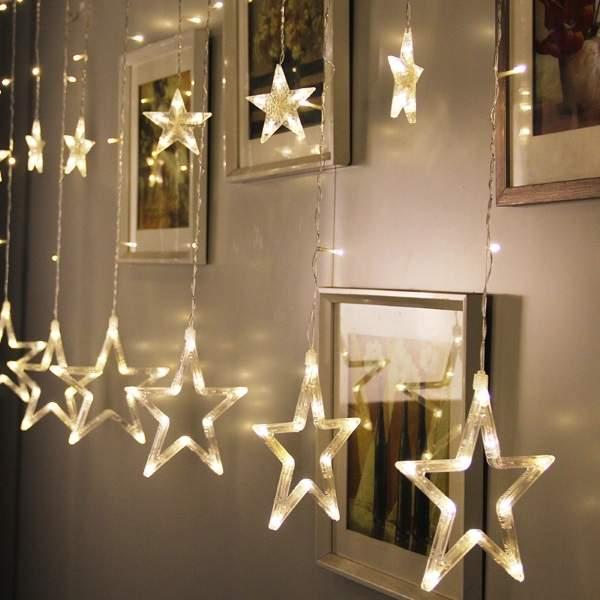 новогодняя гирлянда на стену, фото 21