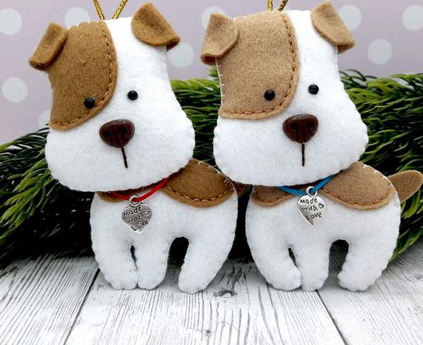 новогодняя игрушка собачка своими руками, фото 3
