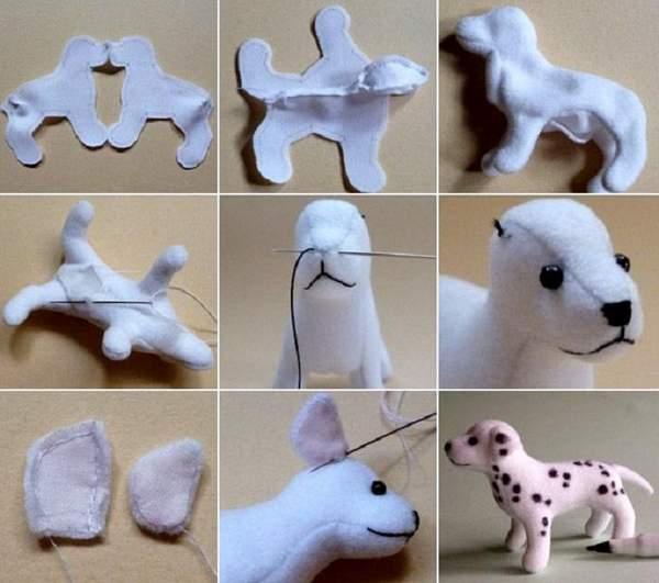 новогодняя игрушка собака своими руками, фото 13