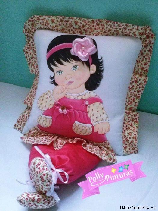 Детские подушки-куклы с росписью акриловыми красками (11) (525x700, 319Kb)