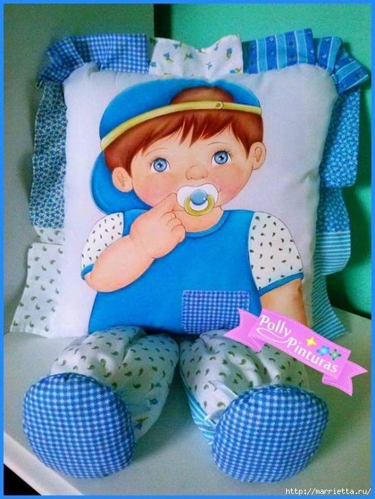 Детские подушки-куклы с росписью акриловыми красками (22) (527x700, 302Kb)