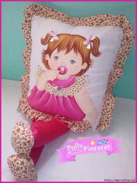 Детские подушки-куклы с росписью акриловыми красками (20) (527x700, 256Kb)