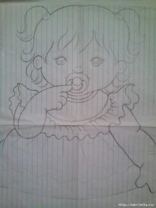 Детские подушки-куклы с росписью акриловыми красками (19) (525x700, 186Kb)