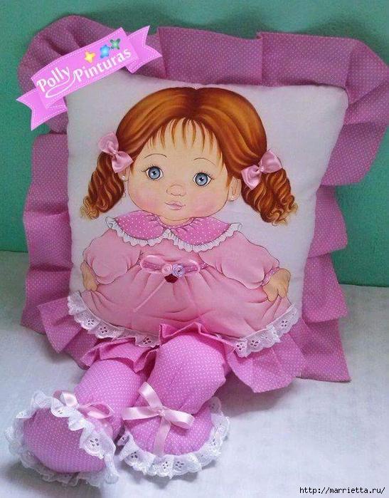 Детские подушки-куклы с росписью акриловыми красками (15) (547x700, 309Kb)