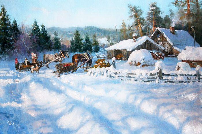 зима Владимир Жданов - 09