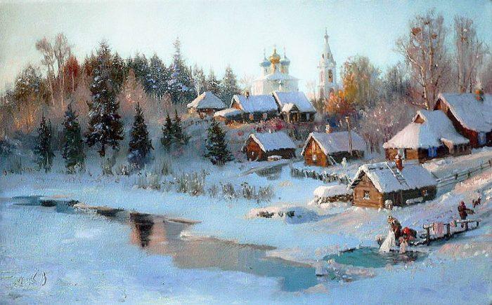 зима Владимир Жданов - 12