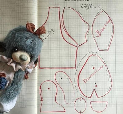 авторский мишка выкройка