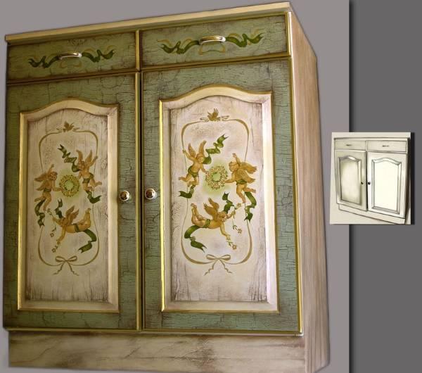 Переделка старой мебели методом кракелюрного лака