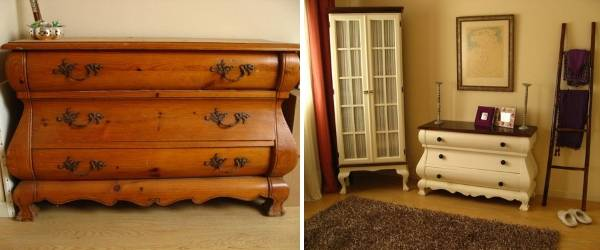 Покраска мебели - реставрация старого комода