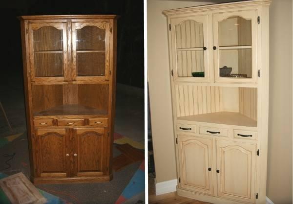 Реставрация шкафа буфета своими руками