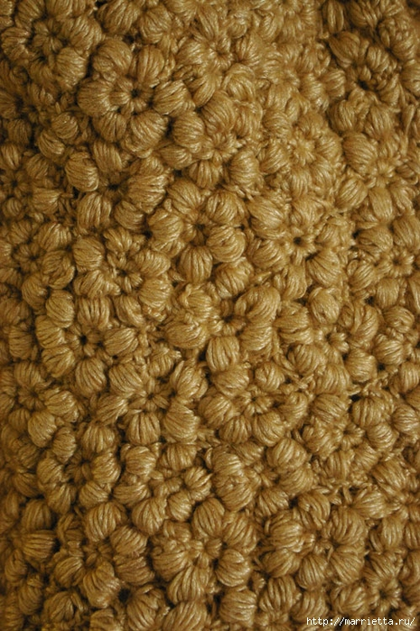 Стильный жакет с эффектом каракуля. Цветочное вязание крючком (4) (465x700, 342Kb)